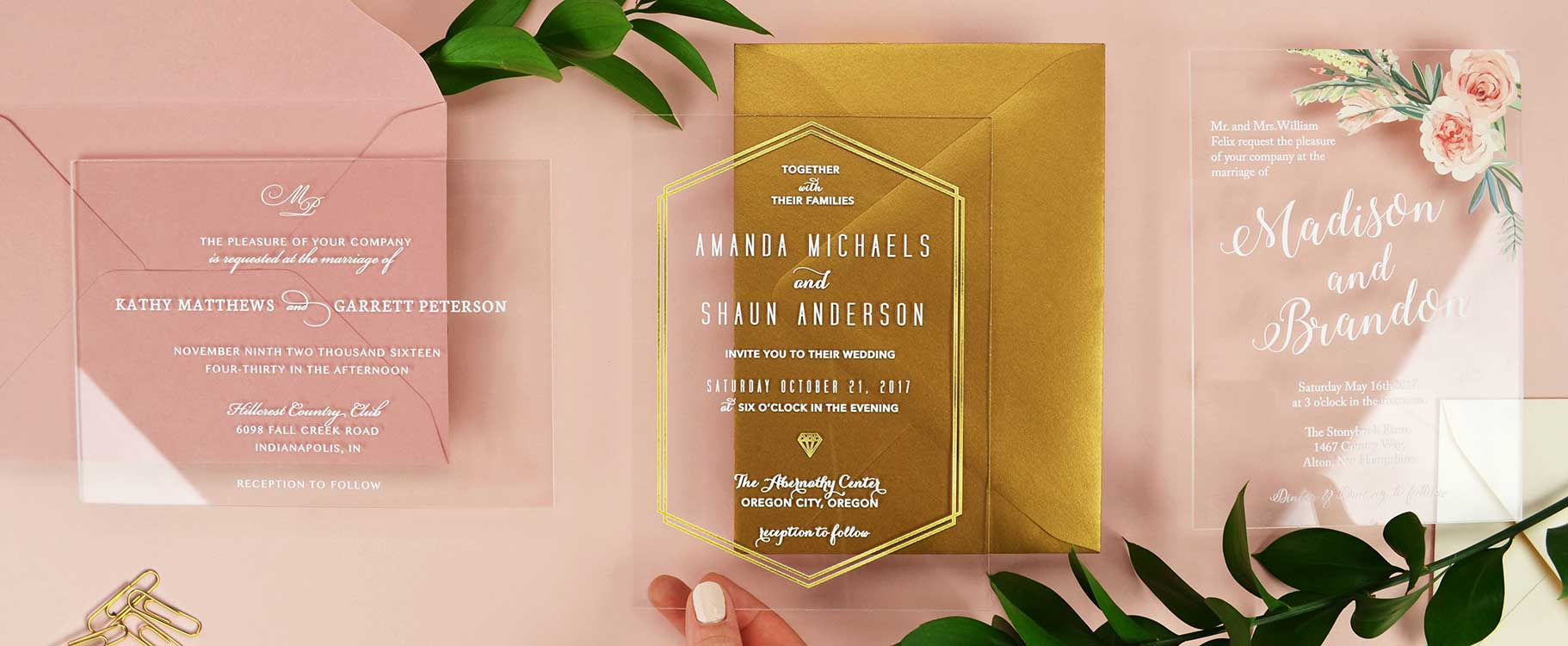 Acrylic Custom Wedding Invitation Design